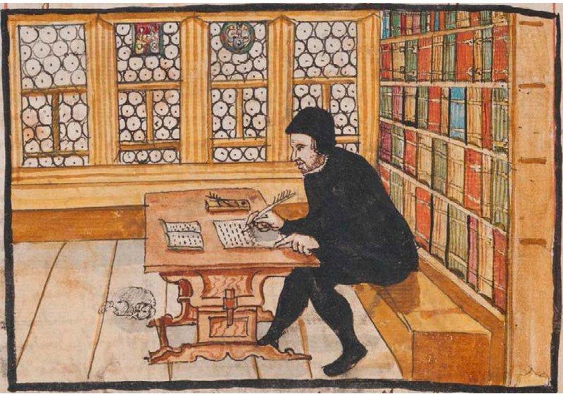 Zwingli schreibend